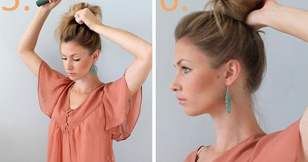 easy updos that keep your hair out of your face.. especially in