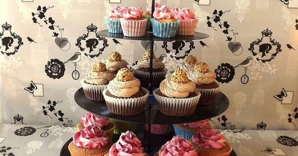 schallplatten etagere retro cupcake hochzeit backen kuchen torte vinyl lp single in m bel. Black Bedroom Furniture Sets. Home Design Ideas