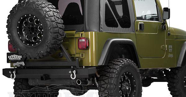 Barricade Jeep Wrangler Classic Rear Bumper W Tire Carrier J20852 87 06 Jeep Wrangler Yj Tj Jeep Wrangler Jeep Wrangler Yj Jeep
