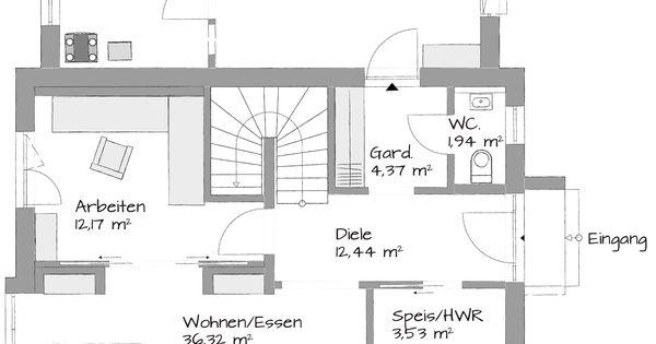 wohn essbereich gr er aufteilung gut architektur pinterest aufteilung grundrisse und. Black Bedroom Furniture Sets. Home Design Ideas