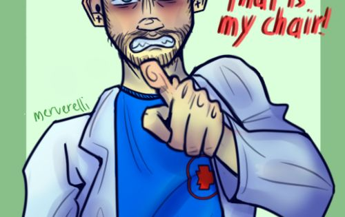 I Have My Own Chair It S Like A Unspoken Rule To Me And I Always Get Angry Whenever Someone Sits In My Chair Jacksepticeye Youtube Art Good Mythical Morning
