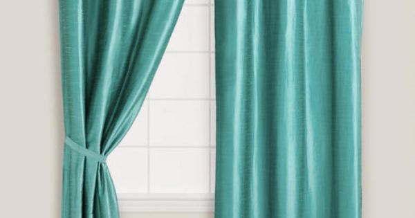 Blue dupioni grommet top curtain grommet curtains room and living rooms