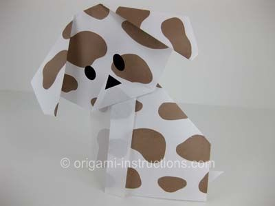 Origami dog face instructions | DoggyMom.com | 299x400