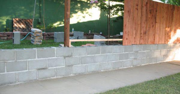 Artsy Fartsy Coming Right Along Fence Design Cinder Block Walls Backyard Fences