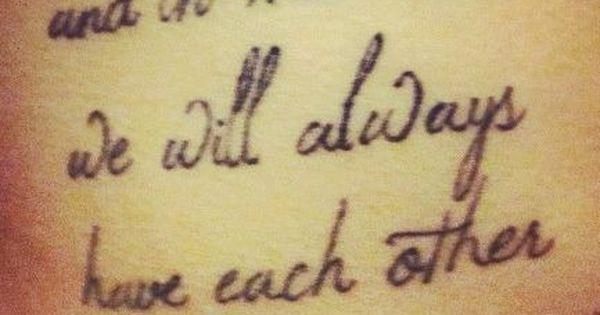 side tattoo quotes for sisters makes you feel warm - and in