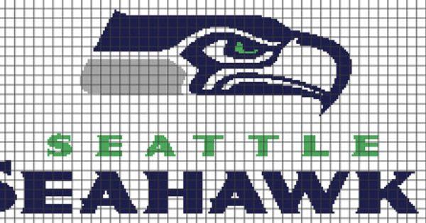 Seattle Seahawks Crochet Graphghan Pattern Chart Graph