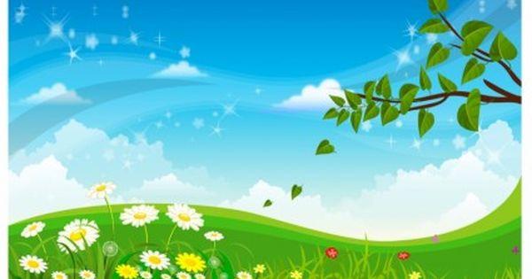 Spring Landscape Free Vector In Adobe Illustrator Ai Ai Encapsulated Postscript Eps Eps Format For Fr Wallpaper Ponsel Hidup Kutipan Pelajaran Hidup