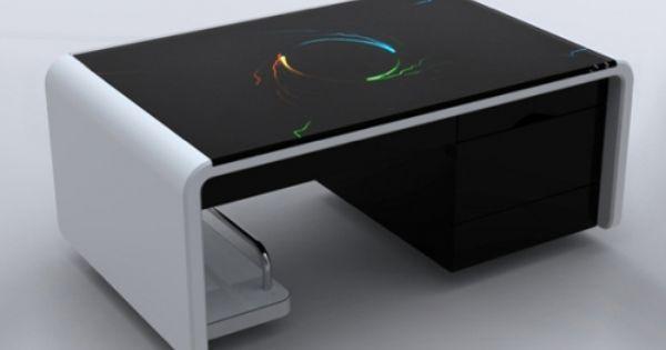61 Mtct Modern Capacitive Touch Coffee Table Miroir Connecte Miroir