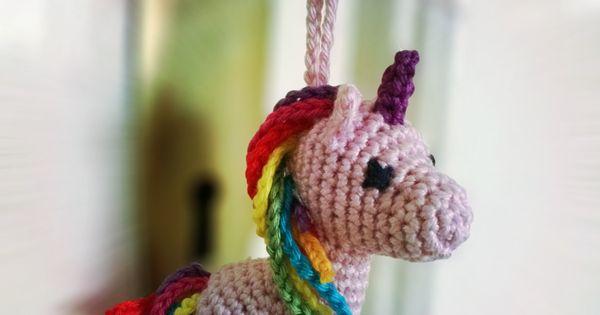 Free Crochet Pattern: Unicorn Keychain Crochet Amigurumi ...