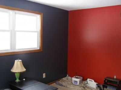 Painting Idea For A Feature Wall Crimson Red Color Bedroom Red Red Bedroom Walls Gray Bedroom Walls