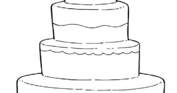 wedding cake coloring pages for kids  super moh
