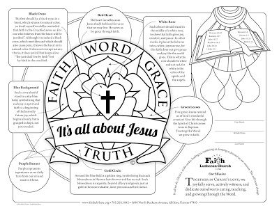 Free Coloring Sheet Printable Lutheran Christian Faith Art For