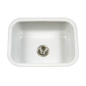 Houzer Porcela Series Undermount Porcelain Enamel Steel 23 In Single Bowl Kitchen Sink In White Pcs 2500 Wh With Images Steel Kitchen Sink Porcelain Kitchen Sink Single Bowl Kitchen Sink
