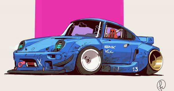 Retrawave Car Fernandocorrea Artstation Com Art Cars Car