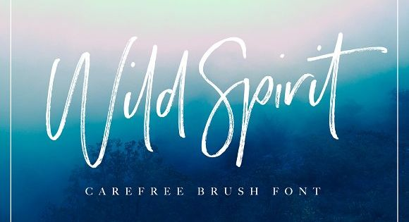 Wild Spirit! A carefree and untamed brush font with a natural flow