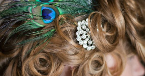 Party Party Hair Piece! haha(: peacock!