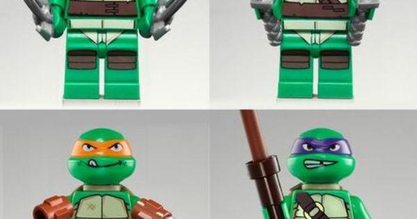 Art LEGO Teenage Mutant Ninja Turtles minifigures