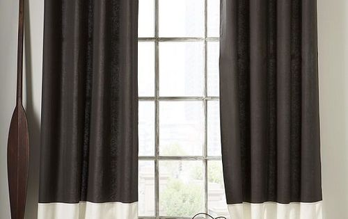 Courtain cortina de tela bicolor cortinas pinterest for Cortinas de tela modernas