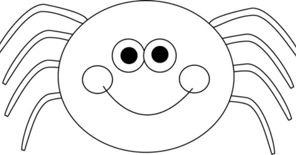 Black and white Halloween spider. | Halloween Clip Art ...