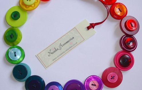 Button Jewelry Patterns | button necklace
