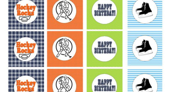 Hockey, Cupcake toppers and Birthday parties on Pinterest