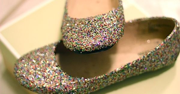 sparkly shoes cute DIY