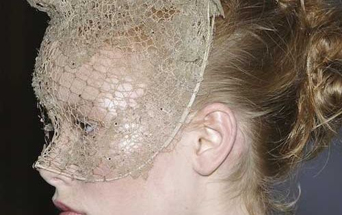 phillip treacy for valentino lace masks V