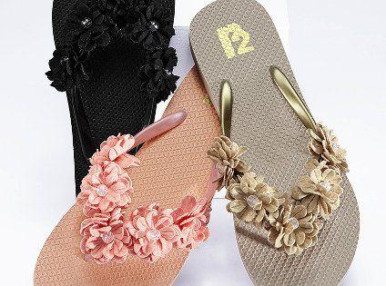 Victoria's secret multi-flower flip flop.