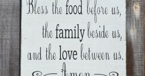 795871183894715632619 Bless the food before us Holidays Painted Wood Sign Rustic Wedding