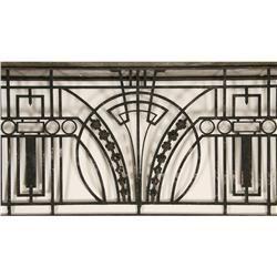 Art Deco Wrought Iron Balcony Panel With Returns Circa 1920 Art