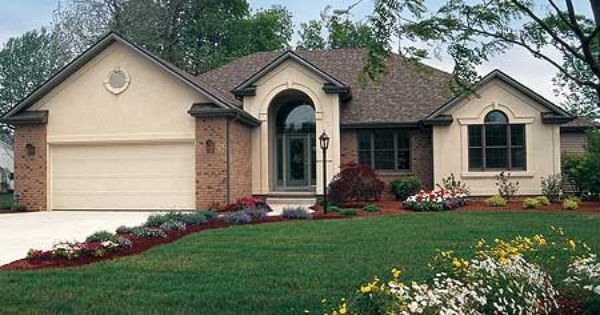 Plan 4091db For Empty Nesters House Plans European House Plan European House