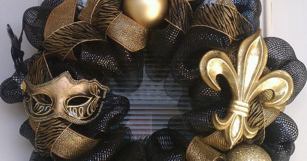 New Orleans Saints Wreath:) GEAUX SAINTS!!