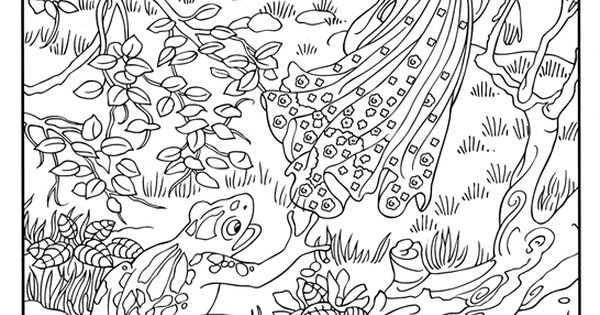 frog prince fairy tale coloring