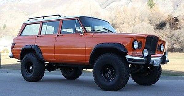 1965 Jeep Wagoneer Orange Jeep Wagoneer Jeep Offroad Trucks