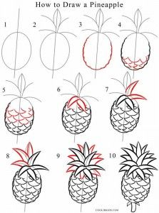 How To Draw A Pineapple Come Disegnare Disegni Da Colorare Imparare A Disegnare