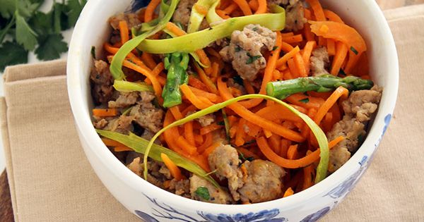 Shaved Asparagus and Sausage Sweet Potato Noodle Pasta ...