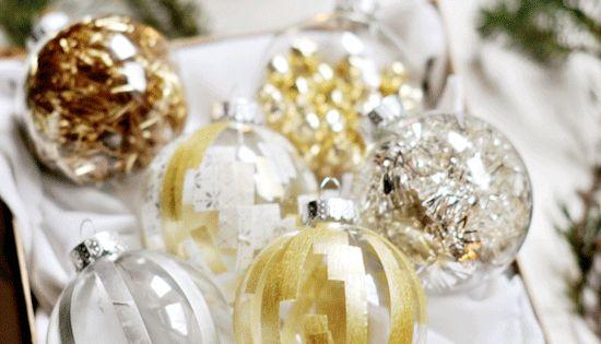 WASHI TAPE ORNAMENTS ornaments christmas decoration glass washitape
