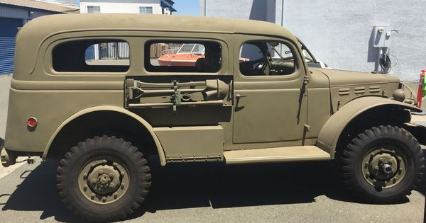 Sold 39 500 1942 Wwii Dodge Wc 53 Carryall W Calif Title Rebuilt Engine 12 Volts New Wiring Alternator Powe Power Wagon Wwii Vehicles Classic Trucks
