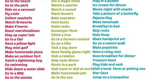 Summer Bucket List for Kids will give them some ideas on what