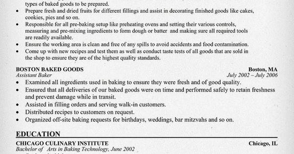 baker resume  resumecompanion com