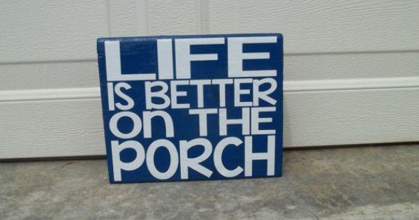 Wooden veranda creativo : ... Porch 6x6 Wood Sign $10 wooden signs Pinterest Porches, Wood
