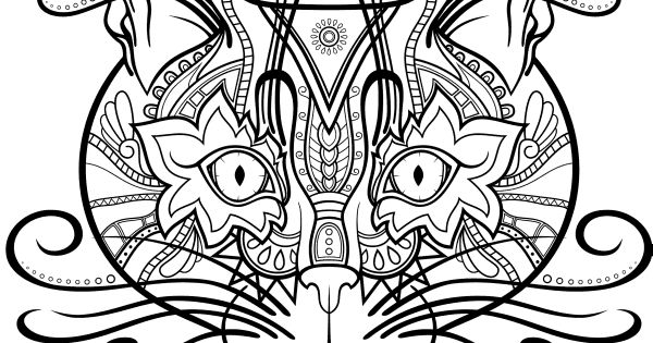 Finished Adult Coloring Cat Already Coloring Pages