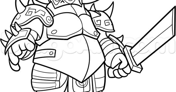 Clash Clans How To Draw Royale