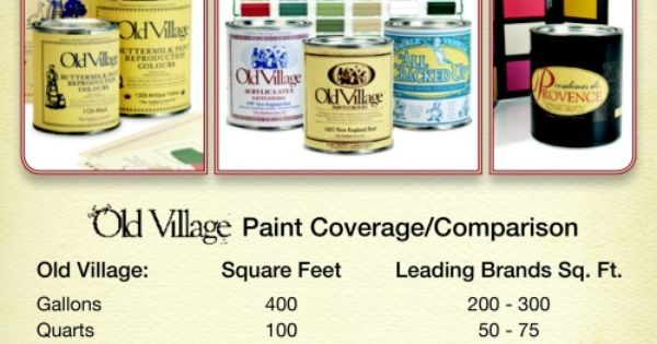 old village paint has amazing coverage 400 square feet per gallon can be stretched to 600. Black Bedroom Furniture Sets. Home Design Ideas