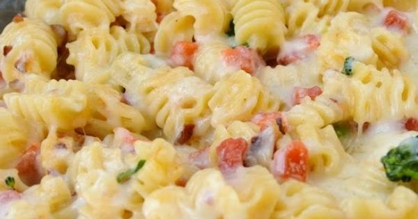 Alfredo Pasta Bake ~ This is a perfect, easy dinner that your