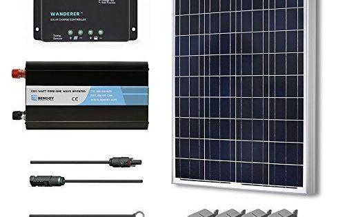 Renogy 100 Watt 12 Volt Polycrystalline Solar Battery Ready Kit With Wanderer Charge Controller For Sale Https Solarp Solar Kit Solar Panel Kits Solar Panels