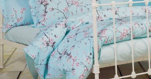 Cathy Peng Art Life April 2009 Blue Bed Sheets Blue Bedroom Designer Bed Sheets