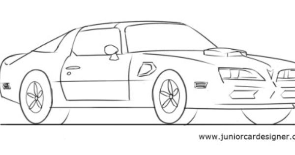 learn how to draw a muscle car  pontiac firebird