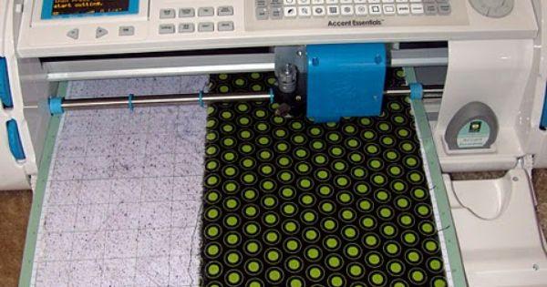 cutting fabric on the Cricut Machine