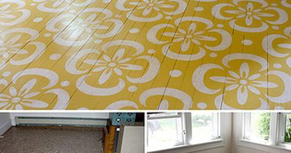 Painted floor. Not exactly the pattern or color but I love the